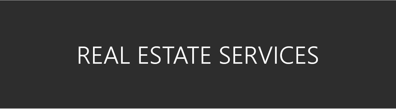 Real Estate Services text